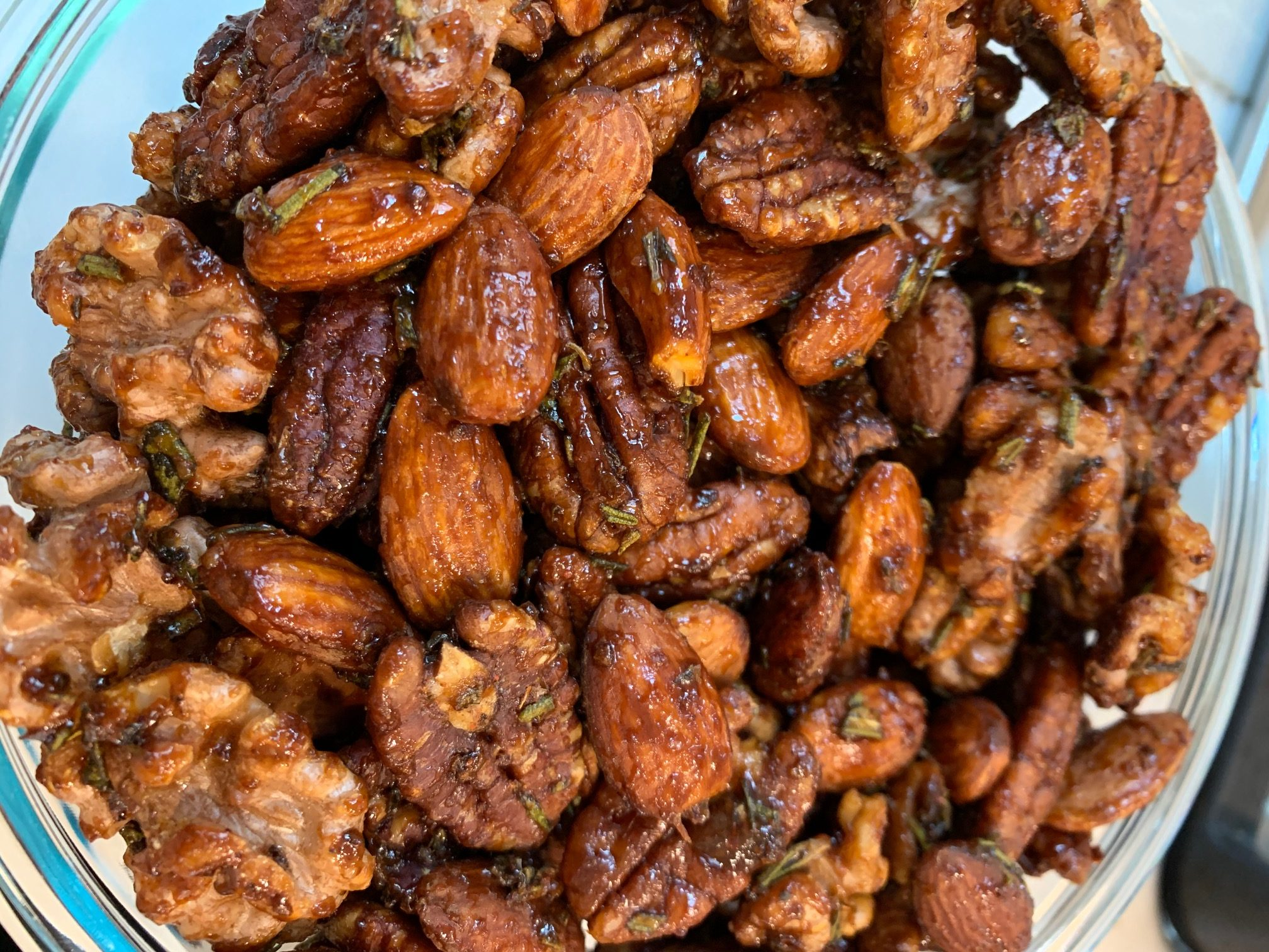 Maple-Rosemary Spiced Nuts